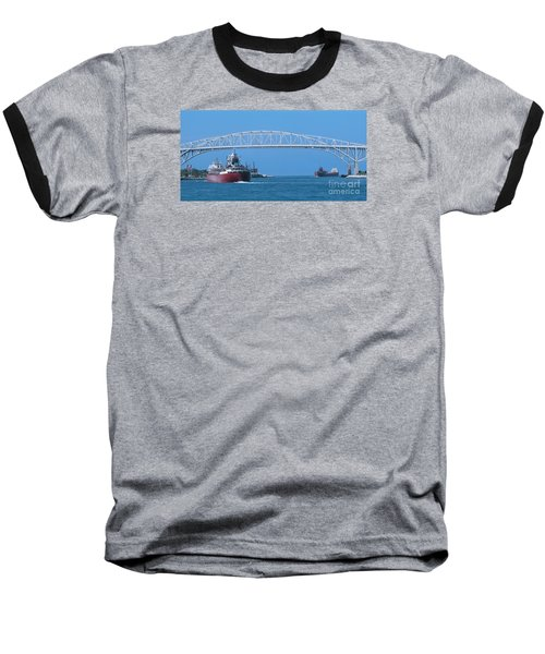 Blue Water Bridge And Freighters Baseball T-Shirt