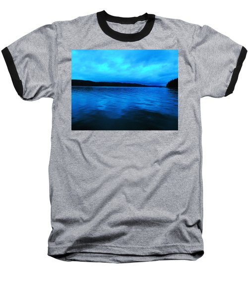 Blue Water In The Morn  Baseball T-Shirt by Jeff Swan
