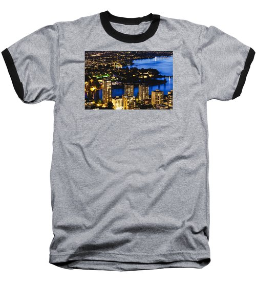 Baseball T-Shirt featuring the photograph Blue Water Kitsilano Beach Mcdix by Amyn Nasser