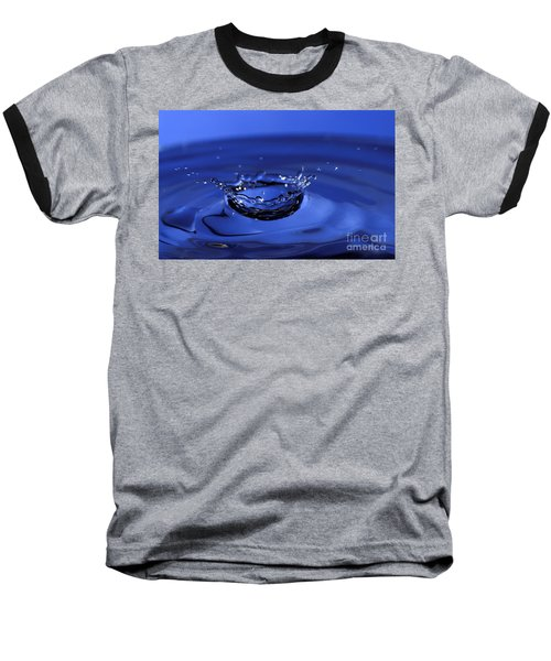 Blue Water Splash Baseball T-Shirt