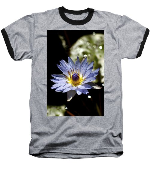 Baseball T-Shirt featuring the photograph Waterlily After The Rain ... by Lehua Pekelo-Stearns