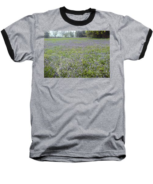 Bluebell Fields Baseball T-Shirt