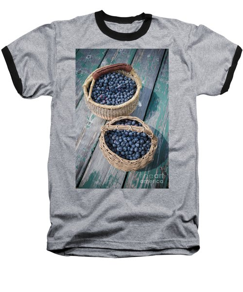 Blueberry Baskets Baseball T-Shirt by Edward Fielding