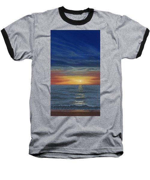 Blueberry Beach Sunset Baseball T-Shirt