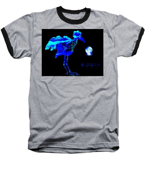 Baseball T-Shirt featuring the painting Bluebird Watching by Hartmut Jager
