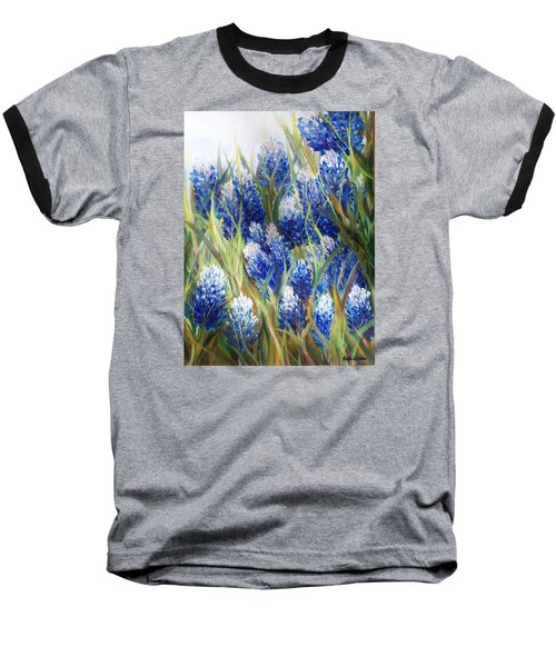 Bluebonnet Barrage  Baseball T-Shirt by Patti Gordon