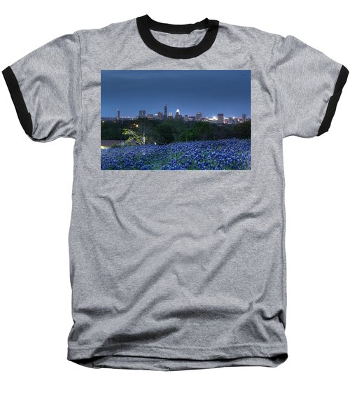 Bluebonnet Twilight Baseball T-Shirt