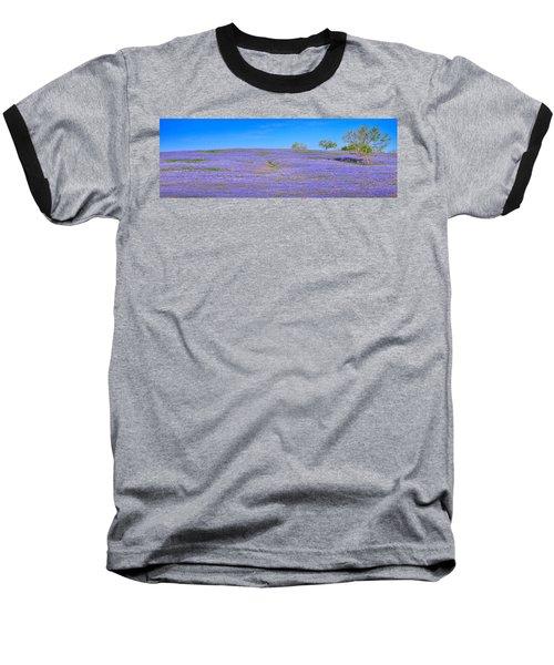 Baseball T-Shirt featuring the photograph Bluebonnet Vista Texas  - Wildflowers Landscape Flowers  by Jon Holiday