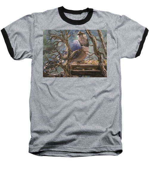 Baseball T-Shirt featuring the painting Bluejay by Megan Walsh