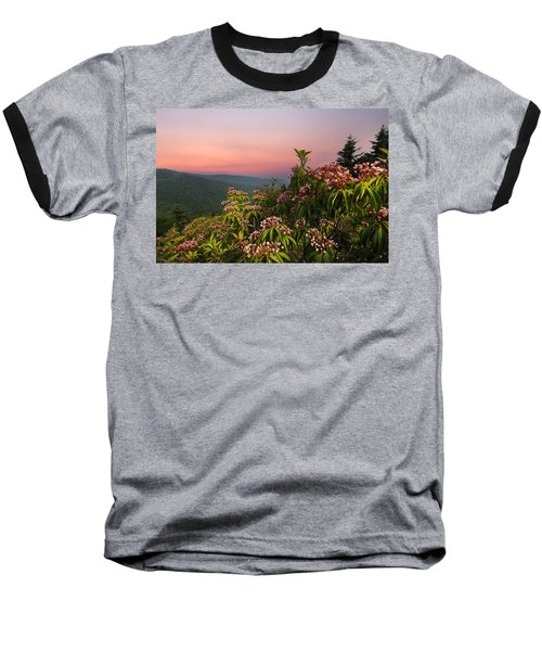 Blueridge Parkway Mountain Laurel Baseball T-Shirt