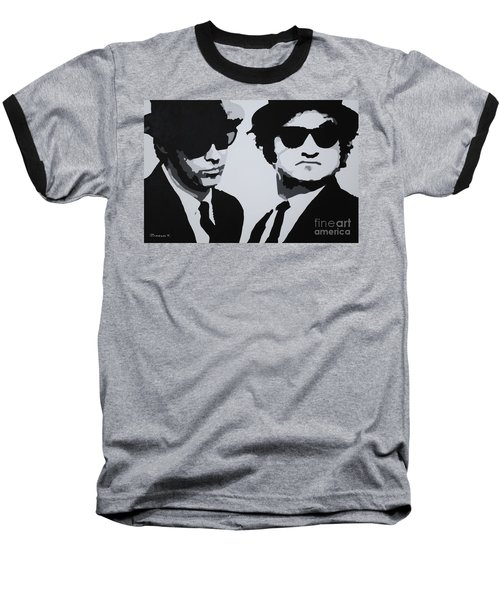 Blues Brothers Baseball T-Shirt by Katharina Filus