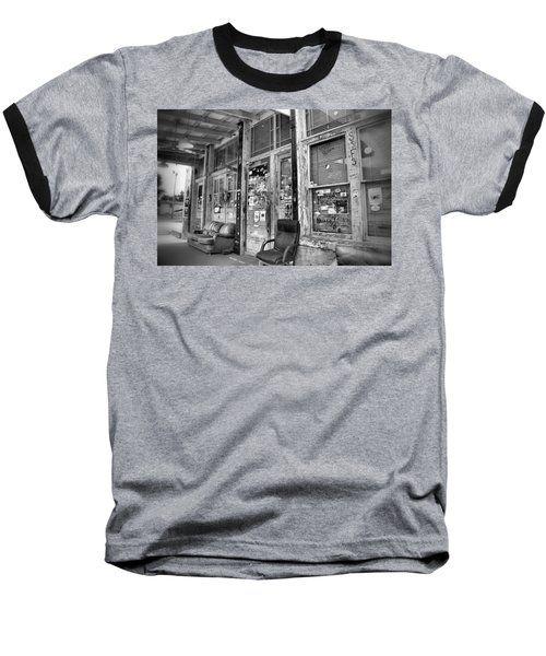 Blues Club In Black And White Baseball T-Shirt