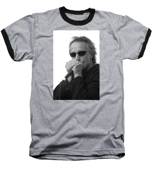 Bluesman James Montgomery Baseball T-Shirt