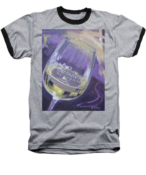 Bluestone Vineyard Wineglass Baseball T-Shirt