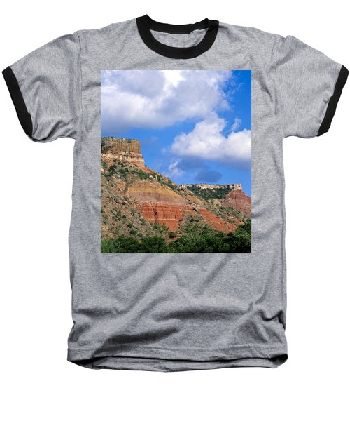 Bluffs In The Glass Mountains Baseball T-Shirt