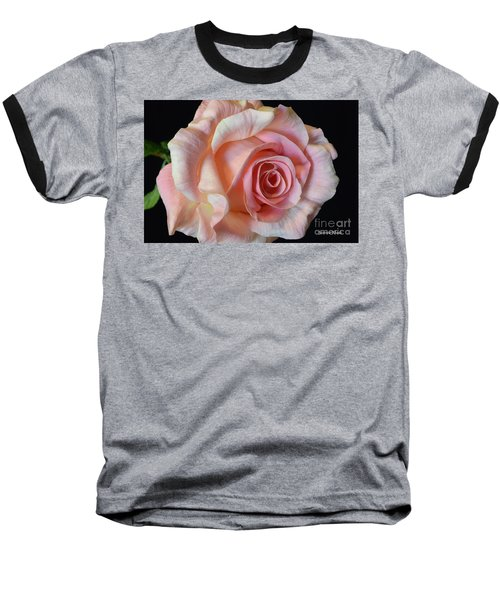 Baseball T-Shirt featuring the photograph Blushing Pink Rose by Jeannie Rhode