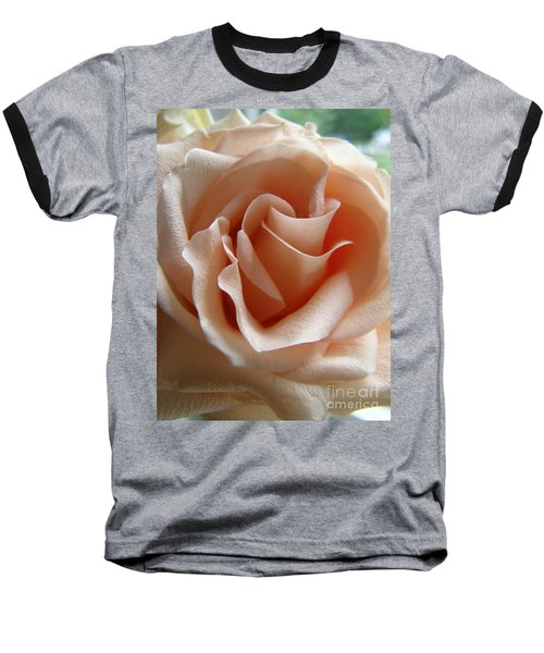 Blushing Rose Baseball T-Shirt by Margie Amberge
