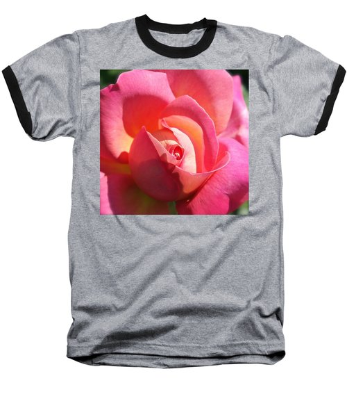 Blushing Rose Baseball T-Shirt