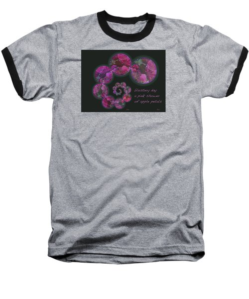Baseball T-Shirt featuring the photograph Blustery Day Haiga by Judi and Don Hall