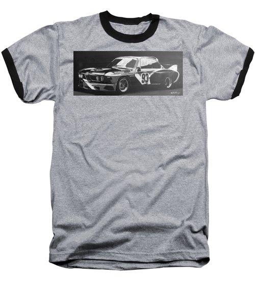 Bmw 3.0 Csl Alexander Calder Art Car Baseball T-Shirt