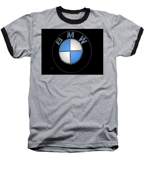 Bmw Emblem Baseball T-Shirt by DigiArt Diaries by Vicky B Fuller