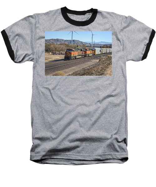 Baseball T-Shirt featuring the photograph Bnsf 7454 by Jim Thompson