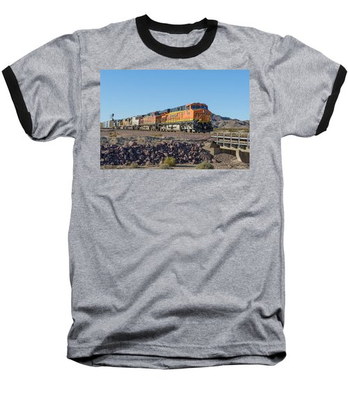 Baseball T-Shirt featuring the photograph Bnsf 7649 by Jim Thompson