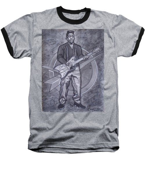 Bo Diddley - Have Guitar Will Travel Baseball T-Shirt by Sean Connolly