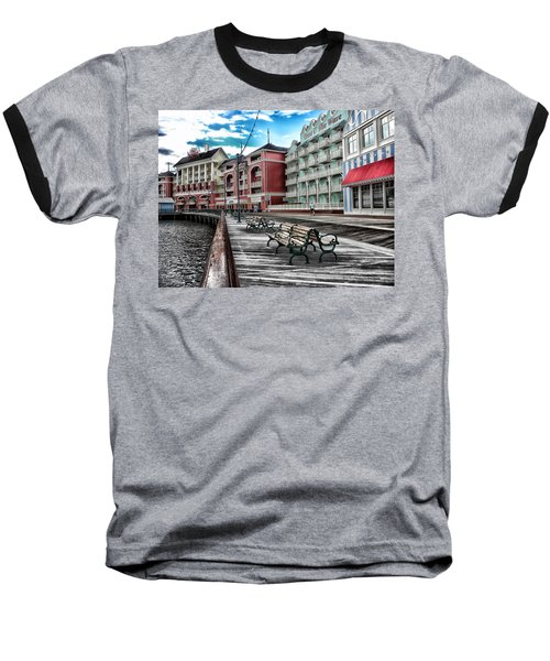 Boardwalk Early Morning Baseball T-Shirt by Thomas Woolworth