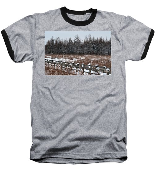 Baseball T-Shirt featuring the photograph Boardwalk Series No1 by Bianca Nadeau