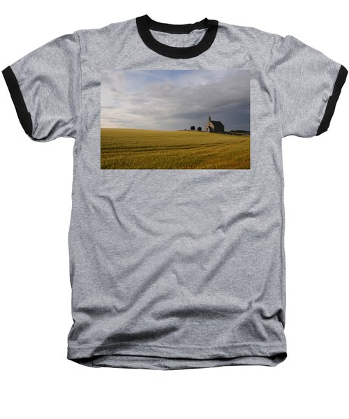 Boarhills Church Baseball T-Shirt by Jeremy Voisey