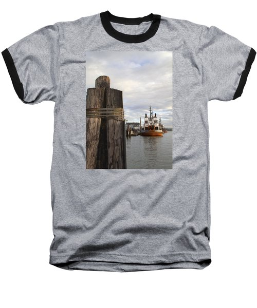 Baseball T-Shirt featuring the photograph View From The Pilings by Suzy Piatt