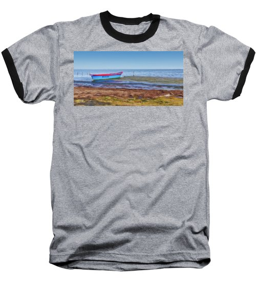 Boat At The Pond Baseball T-Shirt