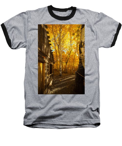 Boat House Among The Autumn Leaves  Baseball T-Shirt