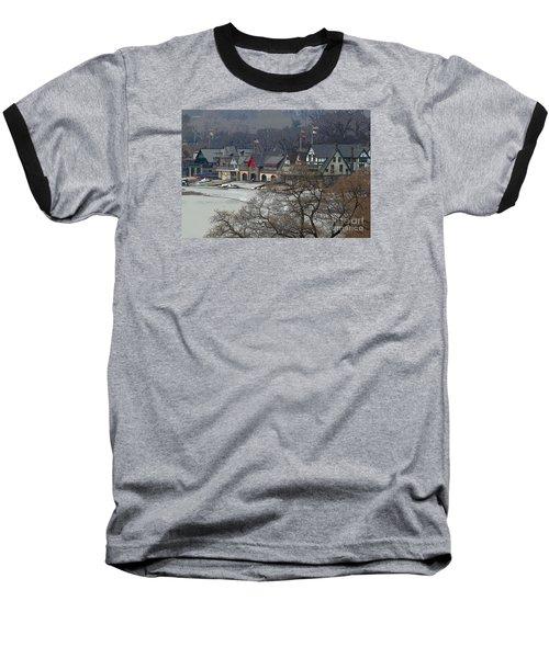 Philadelphia's Boat House Row  Baseball T-Shirt by Cindy Manero