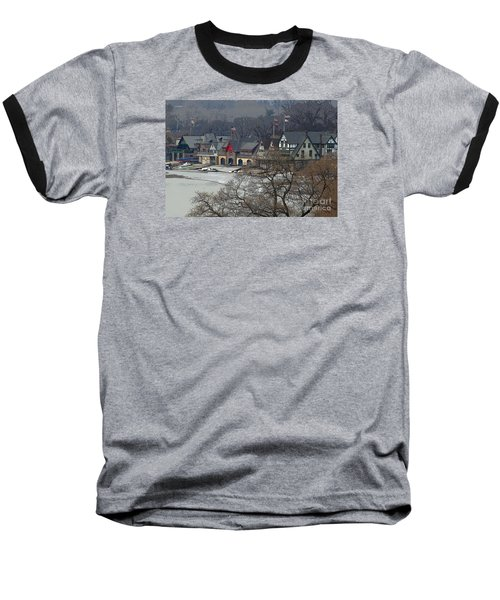Philadelphia's Boat House Row  Baseball T-Shirt