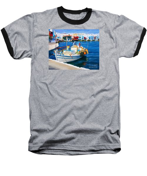 Boat In Greece Baseball T-Shirt