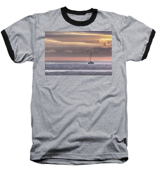 Boat Mooring Off Nairn Beach Baseball T-Shirt