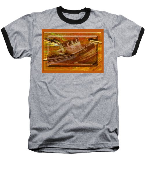 Baseball T-Shirt featuring the photograph Boat On Board by Larry Bishop