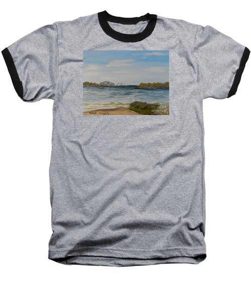 Boat On The Beach Baseball T-Shirt