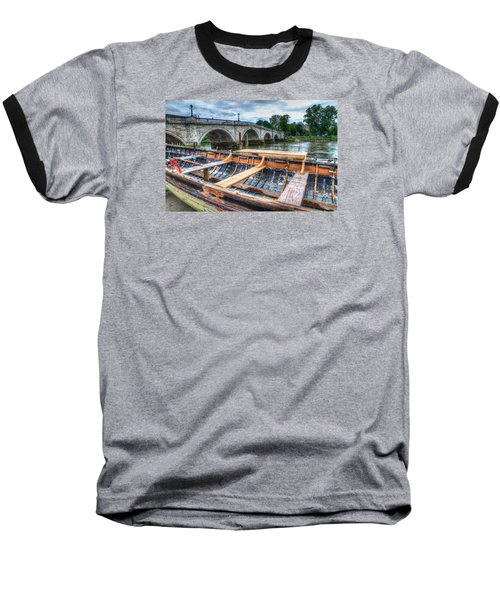 Baseball T-Shirt featuring the photograph Boat Repair On The Thames by Tim Stanley