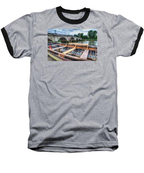 Boat Repair On The Thames Baseball T-Shirt