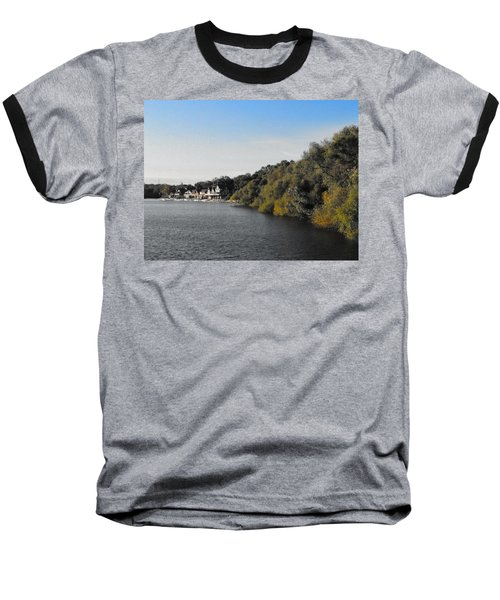 Baseball T-Shirt featuring the photograph Boathouse II by Photographic Arts And Design Studio