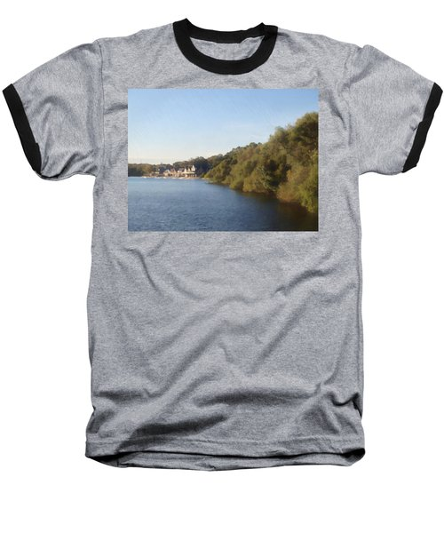 Baseball T-Shirt featuring the photograph Boathouse by Photographic Arts And Design Studio