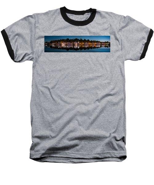Boathouse Row Panorama Baseball T-Shirt