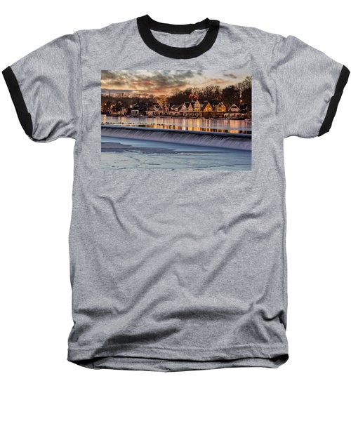Boathouse Row Philadelphia Pa Baseball T-Shirt