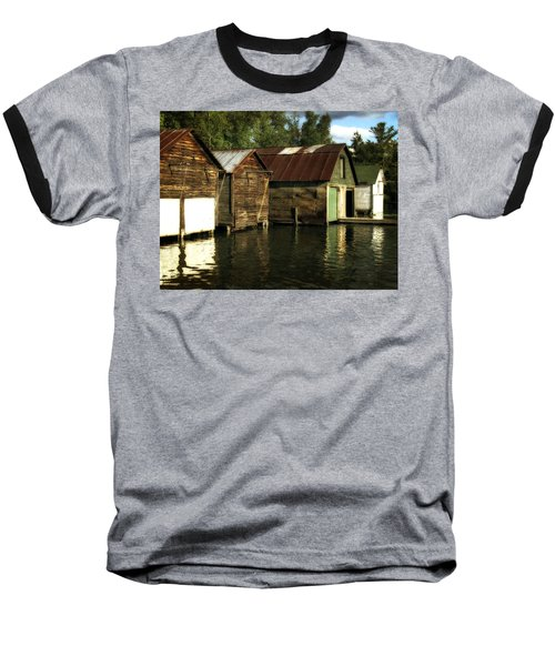 Boathouses On The River Baseball T-Shirt