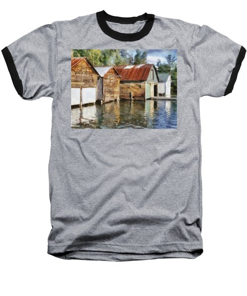 Boathouses On The Torch River Ll Baseball T-Shirt
