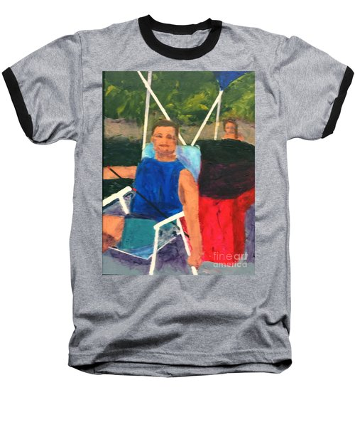 Boating Baseball T-Shirt by Donald J Ryker III