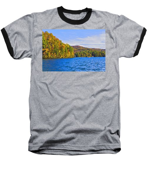 Boating In Autumn Baseball T-Shirt